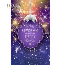 Laeacco Merry Christmas Shiny Star Snowflake Polka Dots Pattern Poster Photo Backgrounds Backdrops Photocall Studio
