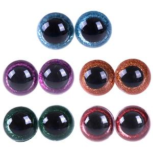 Boneca de plástico brilhante, olhos artesanal de 16-24mm, 10 peças de cores mistas, olho de pelúcia diy para urso bonecas de pelúcia de animais