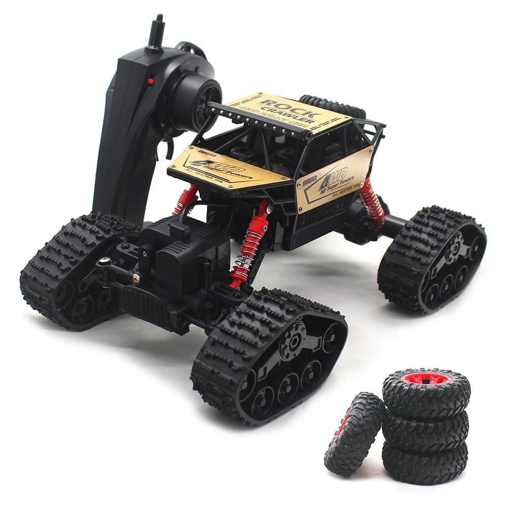 Автомобиль с дистанционным управлением 1:16 полноприводный автомобиль на радиоуправлении гусеничный снегоход игрушки машины на радиоуправ...
