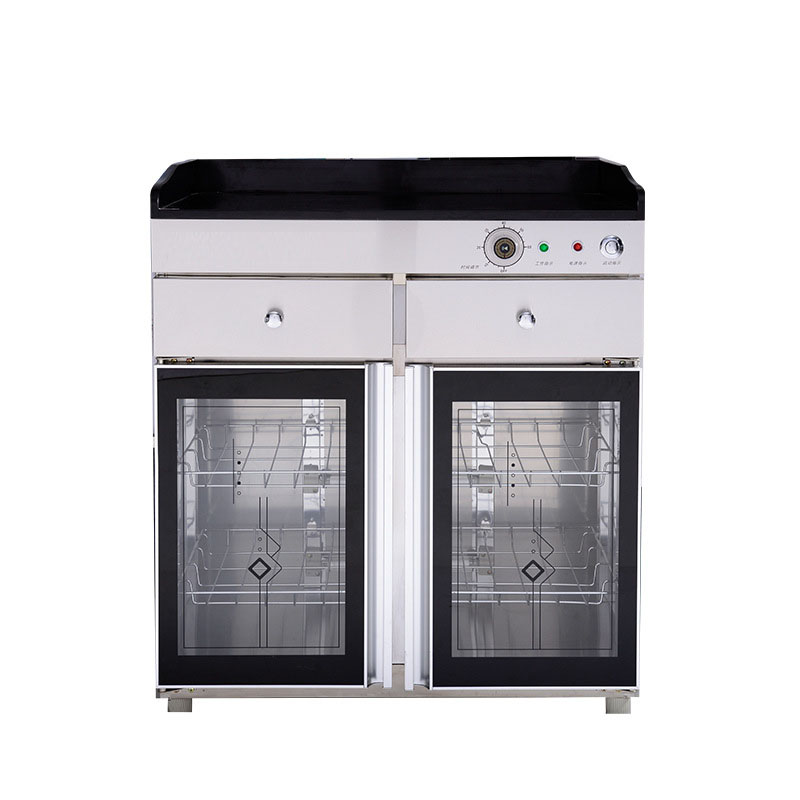 280L Hotel Private Room Tea Business Large Capacity Ozone Infrared Chinese Food With Double Door Disinfection Cabinet