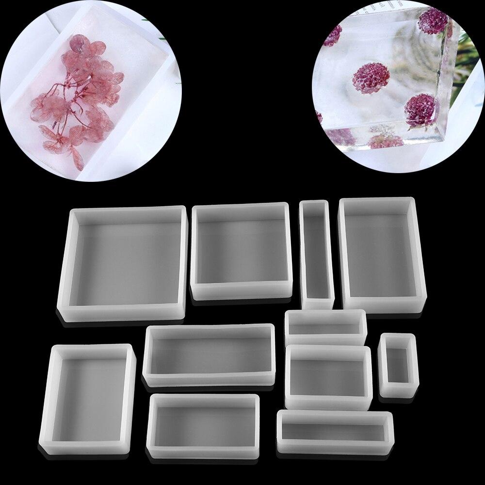 Retângulo quadrado resina epóxi moldes de plantas secas reais flor inseto espécime para resina epóxi molde silicone jóias artesanato fazendo