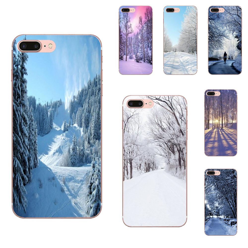 Winter In Central Park Animierte Für <font><b>Xiaomi</b></font> Redmi Hinweis 2 3 3S 4 4A 4X 5 5A 6 6A pro Plus Design Handy Fall image