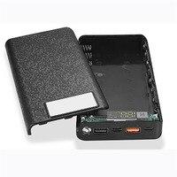 Qc 3.0 caixa de bateria de banco de potência caso escudo 2 usb 8*18650 caixa de carregador de diy tipo-c micro usb telefone móvel powerbank acessório