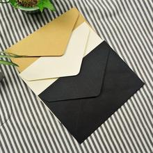 Buy 20pcs kraft gift paper business card Envelope 11.4*16.2cm Cross Section Western Style Triangle Seal Red Envelope directly from merchant!