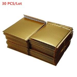 30 шт./лот, разные характеристики, позолоченные бумажные Пузырьковые конверты, сумки для почтовых отправлений, мягкий конверт, пузырьковый п...