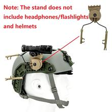 Mounting kit platform adapter for Tactical Peltor Comtac headset Fast Ops Core helmet ARC track adapter and tactical flashlight