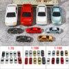 10個1:75/1:100/1:150スケールのプラスチックモデルカーミニチュアモデル構築のおもちゃ列車のレイアウト鉄道モデリング車キッズギフト