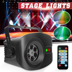 LED Stage Lamp RGB+White Disco Light DJ KTV Laser Stage Projector 13W Pubs Clubs Wedding Birthday Party Lamp Remote Control