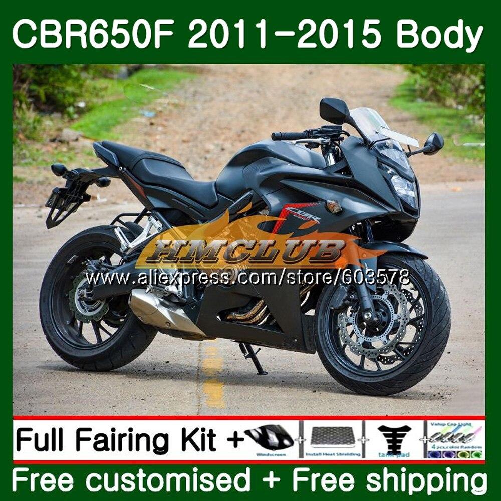 CBR-650F Pour HONDA CBR 650F 650 F 2011 2012 2013 2014 2015 noir mat 130CL. 9 CBR650 F CBR-650 CBR650F 11 12 13 14 15 Carénage