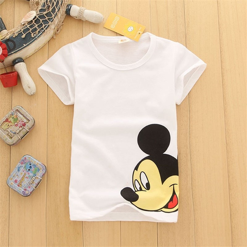 Baby  Boys Cartoon Cute Mickey T Shirt For Summer Infant Children Girls Dinosaur T-Shirts Clothes Toddler Letter Tops Camiseta