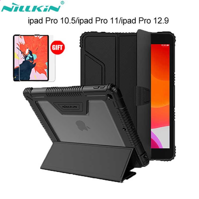 Originale di Nillkin di Cuoio DELL'UNITÀ di elaborazione Caso Astuto Della Copertura Del Basamento per iPad Air 2019/Pro 10.5 2017/Mini 2019/mini 4/9.7/Pro 11/Pro 12.9 (2018)