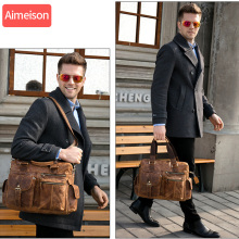 Men genuine leather travel duffel  Real leather travel bag Big vintage crazy horse leather zip around Weekend bag messenger