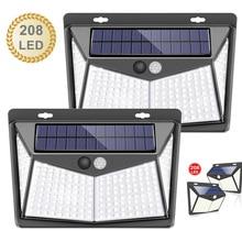 208 Led Outdoor Lighting Solar Lights For Garden Decoration Power Pir Motion Sensor Wall Light