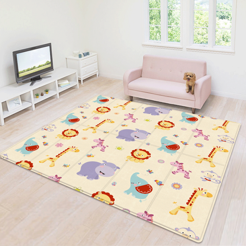 Foldable Baby Play Mat Kids Carpet Mat for Children Carpet for Children's Room Baby Activity Surface Activity Educational Toys