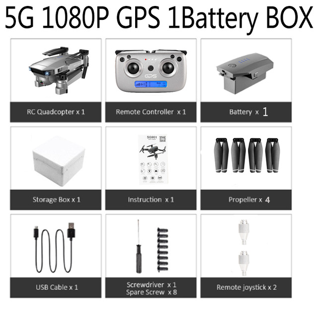 2019 New SG907 Drone GPS with 4K HD Dual Camera Wide Angle Anti-shake WIFI FPV RC Foldable Quadcopter Professional Drones