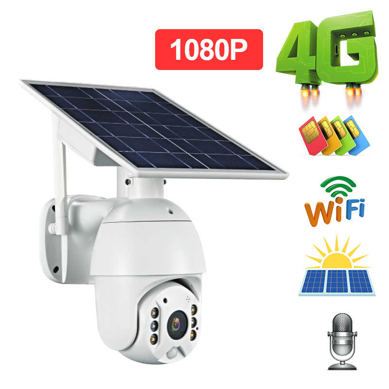 1080P Hd Zonnepaneel Outdoor Monitoring Waterdichte Cctv Camera Smart Home Twee-weg 4G Wifi Voice Inbraak alarm Lange Standby