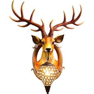 Настенный светильник с оленем, для дома и террасы