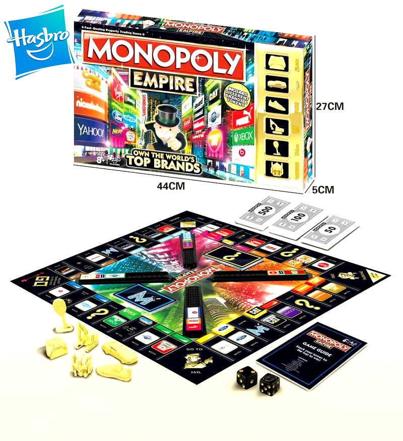 Hasbro Gaming Monopoly Educational Leisure Play Toys Classic English EMPIRE Monopoly Game Board Hobby Collectibles Toys