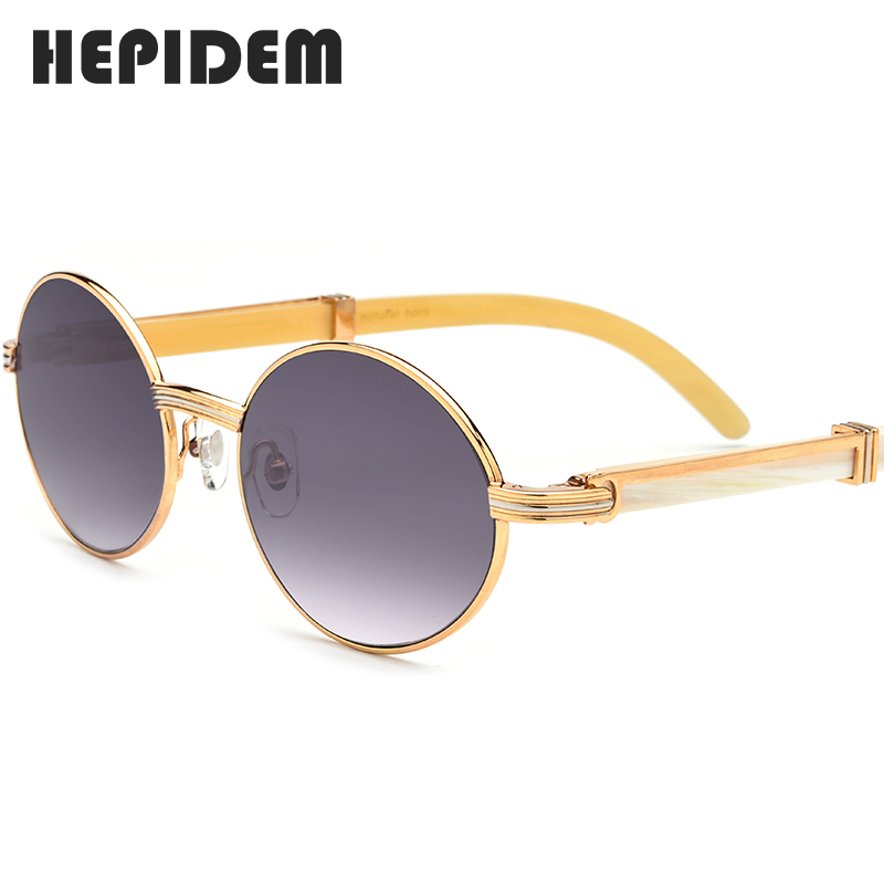 Glasses Frame New High Quality Men Round Sunglasses Luxury Sumptuous Oval Eyewear Eyeglasses Buffalo Horn Glasses