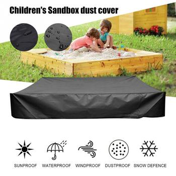 With Drawstring Dustproof Waterproof Bunker Outdoor Garden Oxford Cloth Shelter Canopy Children Toy Sandpit Pool Sandbox Cover