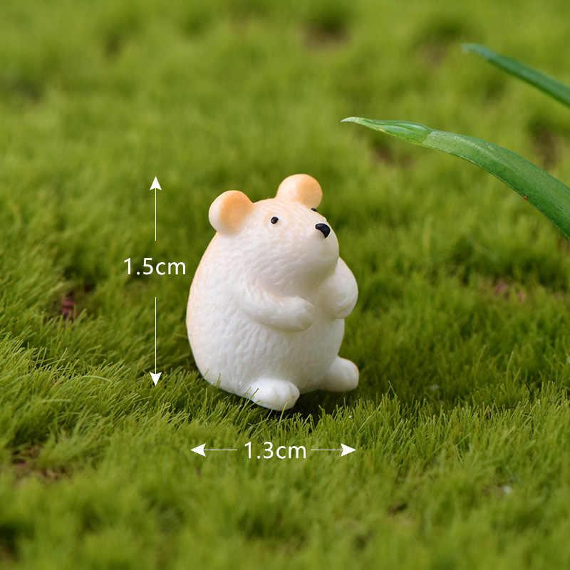 2019 venda quente micro paisagem mini animal pequeno hamster coelho caracol suculento micro paisagem artesanato resina decoração