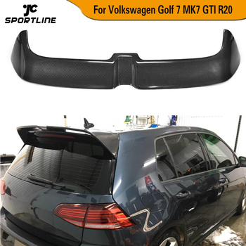 Carbon Fiber / ABS Rear Trunk Roof Spoiler Window Wing Lip for Volkswagen VW Golf 7 7.5 VII MK7 7.5 GTI R Hatchblack 2014 - 2019 carbon fiber rear trunk wings m4 spoiler for bmw 4 series f36 420i 428i 435i gran coupe 4 door 2013 gloss black spoiler wing