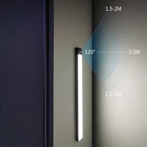 Zerouno LED Under Cabinet Light Infrared Motion Sensor Night Lamp USB Rechargeable Light Cupboard Closet Lamp 12cm 23cm 40cm