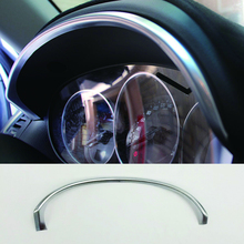 ABS Chrome Interior Instrument Dashboard Panel Trim Cover For Mazda Cx-5 2012 2013 2014 2015 2016 Bezel Strip Molding Garnish