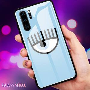 Image 5 - Hot Chiara Ferragni Eyes Phone Case For Huawei P9 10Plus 20PRO P30 Lite Back Cover Tempered Glass Cases For NOVA 3E Series