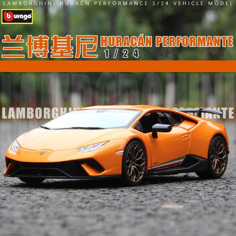 Bburago 1:24 Lamborghini Hurricane Alloy Car Model Simulation Car Decoration Collection Gift Toy