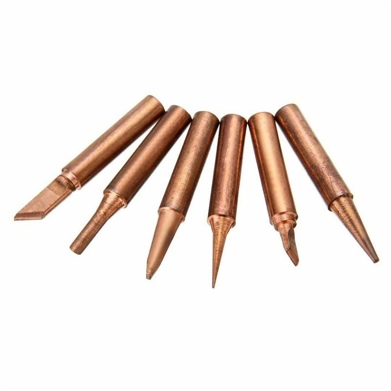 Copper Solder Iron Tip 900M-T-0.8D/1.2D/1.6D/2.4D/3.2D/I/K/SK/B/SI/1C/2C/3C/4C/5C Welding Head For Soldering Tool