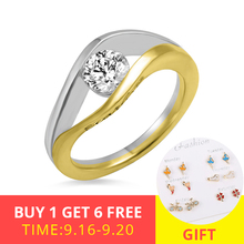 XiaoJing 100%925 sterling silver personalized ring two colors with birthstone engraving ring For Women Valentine's Day gift xiaojing 925 sterling silver personalized family tree ring with birthstone women fashion ring mother s day gift free shipping