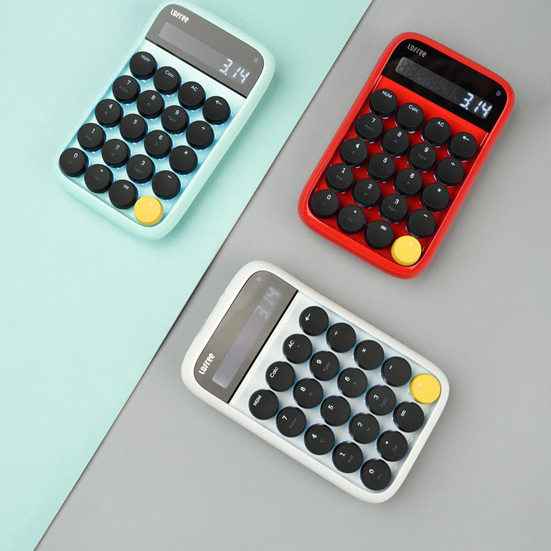 Xiaomi Lofree Bluetooth цифровая клавиатура многосистемная совместимая клавиатура с подсветкой Micro USB 800 мАч емкость умный калькулятор