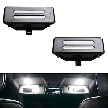 Replacement Xenon White LED Vanity Mirror Light Assemblies White Lamp for BMW E60 E61 E90 E91 E92 E70 image