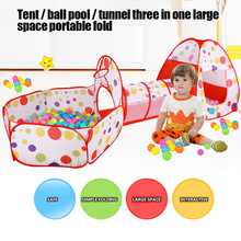 Dobrável brinquedos do bebê bola piscina tenda do bebê portátil casa rastejando túnel oceano indoor jogos ao ar livre crianças tenda jogar casa