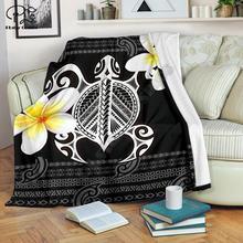 Черепаха Плюмерия цветы полинезийский узор 3d Печатный шерпа