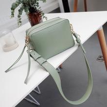 2019 Fashion Women Handbags Simple Crossbody Bags Duble Zipper Bag Brand Designer High Quality PU Leather Messenger