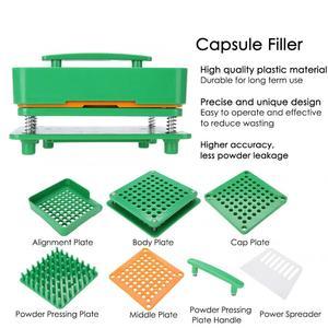 Image 4 - 64 구멍 빈 캡슐 필러 파우더 스프레더 플레이트 캡슐 작성 수동 공작 기계 0 #