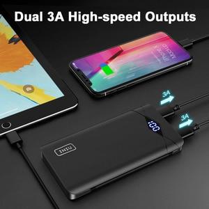Image 3 - INIU 3A 10000mAh LED güç bankası çift USB taşınabilir şarj edici güç bankası harici telefon pil paketi için iPhone Xiao mi mi samsung