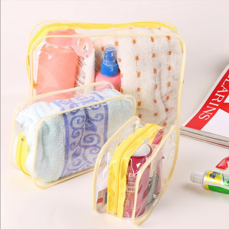 Thickened PVC Waterproof Cosmetic Bag For Travel Goods Acceptance Bag Portable Transparent Environment-friendly Washing Bags