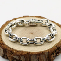 Starfield Japan Accessories S925 Sterling Silver Cherry Men Women Retro Thai Silver Punk Style Bracelet Homme