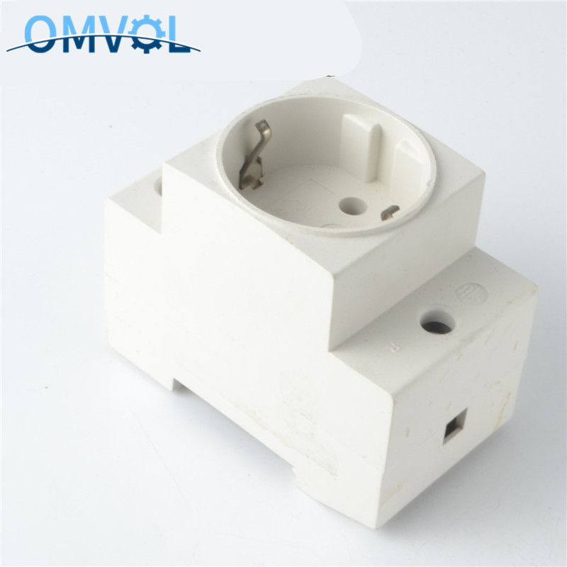 EU Type 35mm DIN Rail Mount AC Power Ac30 Modular Socket 10/16A 250V AC Socket Connector