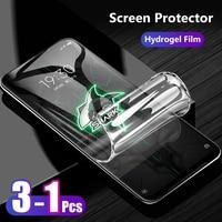 Protector de pantalla para Xiaomi Black Shark 4 3 Shark3 Pro, funda completa delgada frontal a borde, película de hidrogel suave de TPU a prueba de explosiones