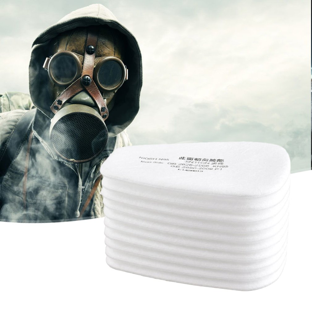 10 Pieces / Set Of 5N11 Filter Cotton Filter 501 Replaceable Filter For 6200/7502/6800 / Dust Mask Chemical Protection Anti-fog