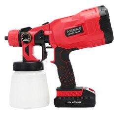 Electric Spray Gun 800ml Household Paint Sprayer High Pressur Gun Flow Control Airbrush Easy Spraying Cordless Electric Airbrush