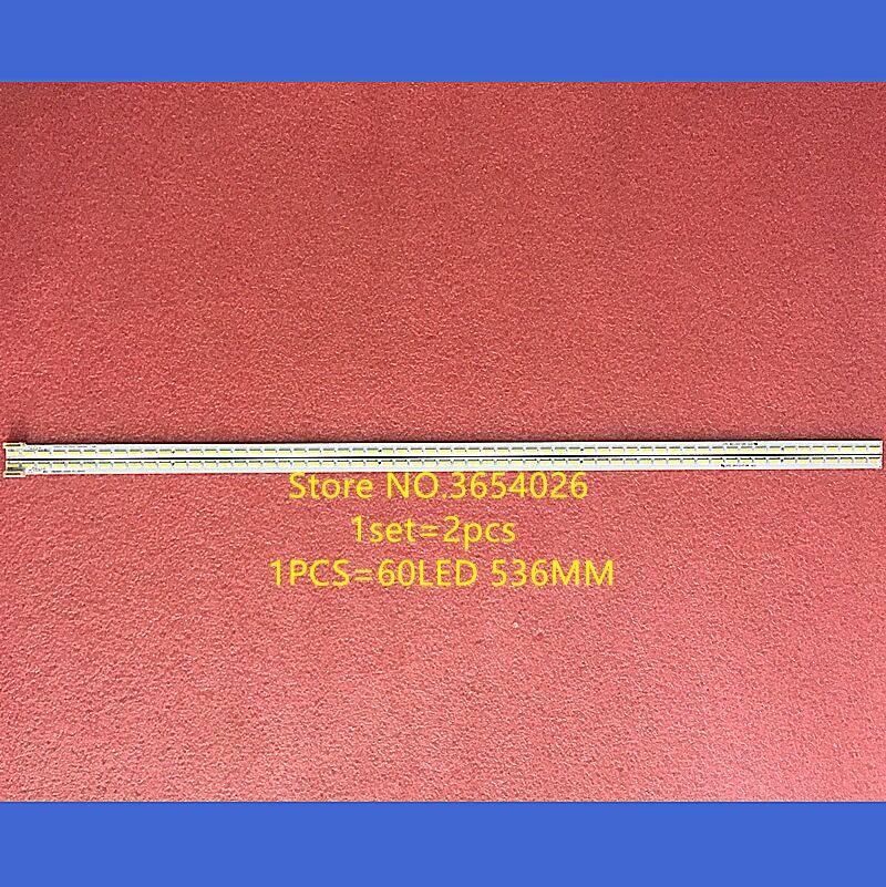 2PCS NEW 536mm LED Backlight Strip 60leds For Changhong 49inch Tv APT-LB14003 L R Type UD49C6000iD Light Bar M490U13-E1-L Screen