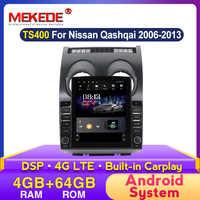 Radio Multimedia con GPS para coche, Radio con reproductor, navegador, 4G LTE, pantalla Tesla de 9,7 pulgadas, Android, para Nissan Qashqai J10 2006-2012, No 2 Din, DVD