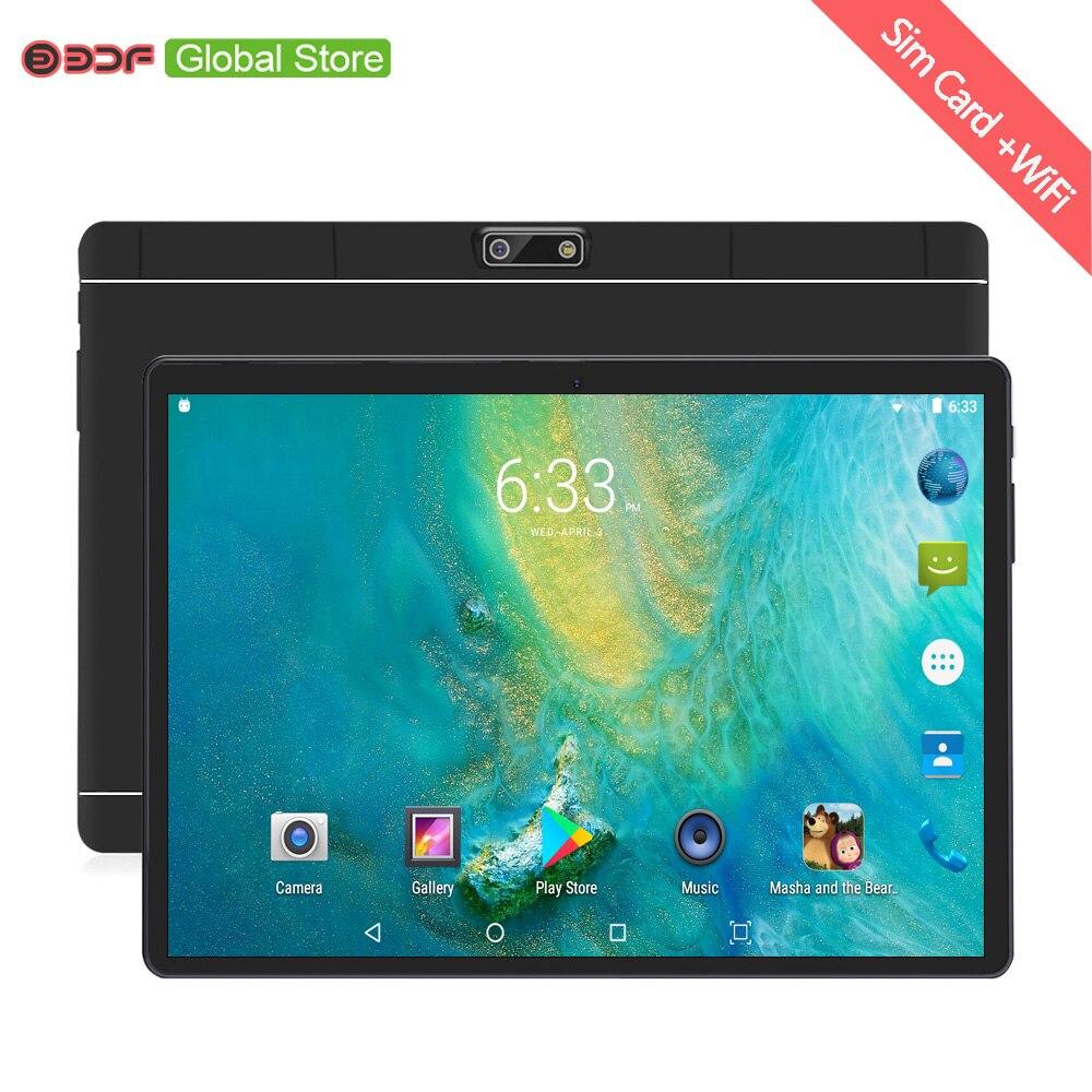 Novo 10 polegada 4g chamada de telefone comprimidos android 7.0 octa núcleo 4g + 64g tablet pc 3g 4g lte duplo cartão sim portátil wifi gps bluetooth tab