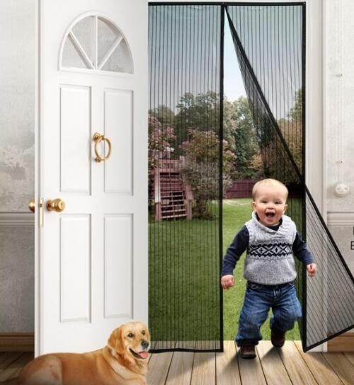 Mosquito Net Curtain Magnets Door Mesh Insect Sandfly Netting with Magnets on The Door Mesh Screen Hand Free Mosquito Repeller