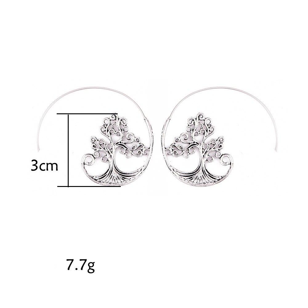 Earrings For Women Fashion Spiral Modern Heart Leaf Tree Vintage Golden Silver Glamour Trend Sexy Beach Vacation Dangler Earring 1
